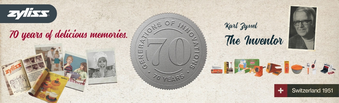 zyliss 70 years of innovation - kitchen tools