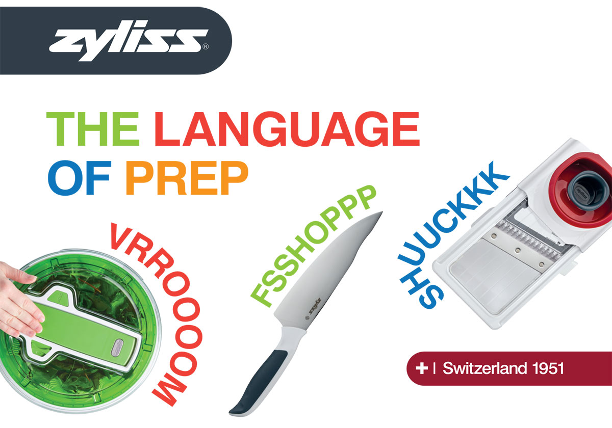 zyliss the language of prep - cooking