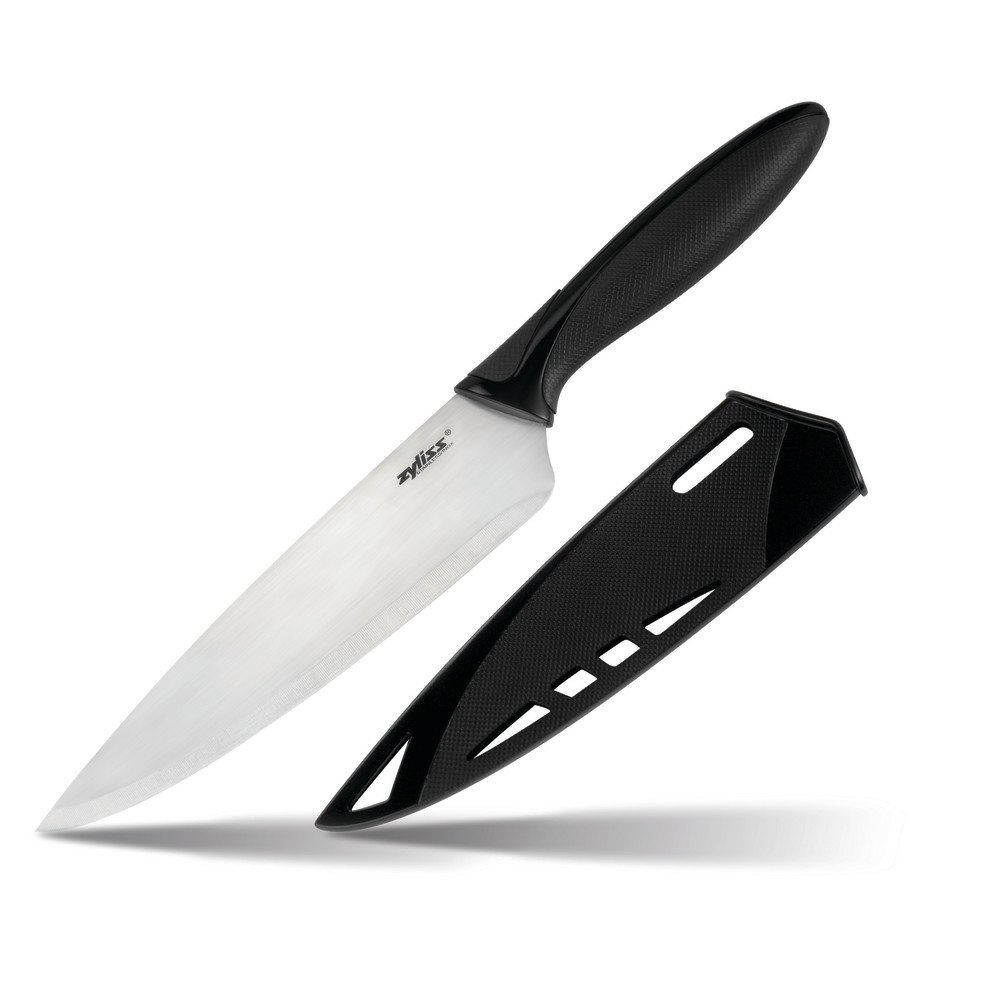 Zyliss Chef's Knife With Sheath Cover, 7.25 in