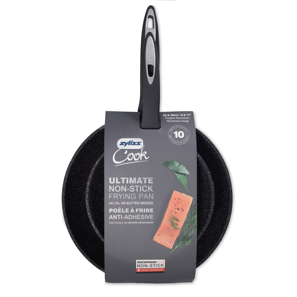 Zyliss 2-Piece 8 in. & 11 in. Ultimate Nonstick Fry Pan Value Set, Dishwasher & Metal Utensil Safe